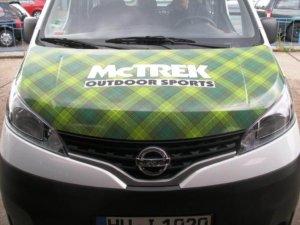 Car Wrap bei Lieferwagen in Frankfurt